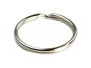 Ocharzy Silver Steel Round Edged Keychain Keyrings (100PCS, 1.4 inches)