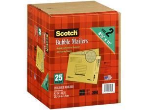 "Scotch 3M Bubble Mailers Size 2 (8 1/2 "" x 11"") - 25ct"