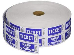 S.P. Richards Company Ticket Roll, Double with Coupon, 2000/RL, Blue (SPR99230)