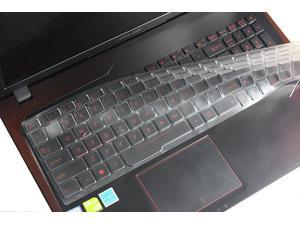 White Black Leze Ultra Thin Silicone Keyboard Cover Skin Protector for 15.6 ASUS ROG Strix GL502VM Gaming Laptop
