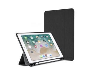 8f57fbe0a6f Leafbook iPad Pro 10.5 Case, Soft TPU Back with Pencil Holder Trifold Stand  with Auto