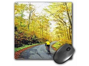 3dRose USA, Vermont The Lincoln Gap. Bicyclist, Us47 Rdu0017, Richard Duval Mouse Pad (mp_95093_1)