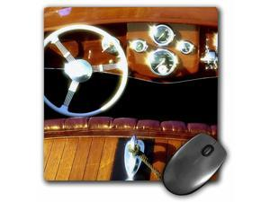 3dRose LLC 8 x 8 x 0.25 Inches Mouse Pad, Woodwork on A Wooden Boat Sparkles in The Sun Richard Duval (mp_96607_1)