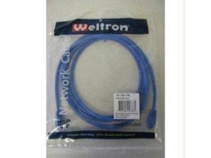 WELTRON 90-C6B-7BL Patch Cable, SNAGLESS, CAT6, Blue, 7FT