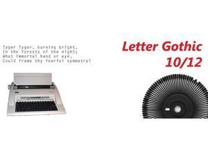 Nakajima Letter Gothic 10/12 Print Wheel for use in Nakajima WPT-150/160 Series Portable Electronic Typewriter.