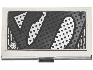 Buckle-Down Metal Wallet-Superman Logo Outline Reverse Brushed