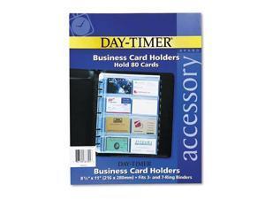 DTM87325 - DAYTIMER'S INC. Business Card Holders for Looseleaf Planners