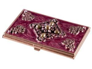 Visol Products Alameda Crystals on Copper Women's Business Card Holder
