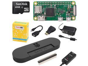 CanaKit Raspberry Pi Zero W (Wireless) Complete Starter Kit with Premium Black Case
