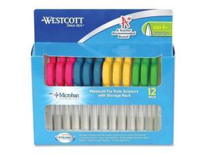 """14872 Westcott Kids Scissor Pack - 5"""" Overall Length - Pointed - Straight-left/right - Plastic, Stainless Steel - Assorted"""