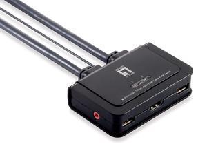 LevelOne Cable KVM Switch, 2 Ports, KVM-0290
