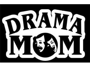 Drama Mom Decal Vinyl Sticker|Cars Trucks Vans Walls Laptop| White |7.5 x 4.75 in|CCI1133
