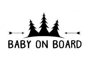 CCI Baby on Board Trees and Arrows Decal Vinyl Sticker|Cars Trucks Vans Walls Laptop| Black |6.5 x 3.25 in|CCI1442