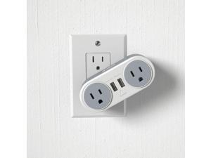 Atomi Rotating Surge Mini 2 Power Outlets and 2 USB ports all in one