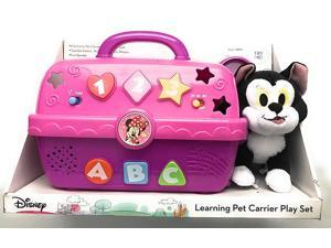 Disney Electronic Pet Carrier and Figaro Plush - Teaches Colors, Numbers, Letters, Shapes with Fun Sounds!