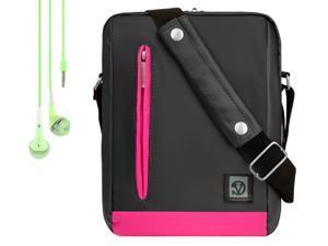 "Adler 10.2 Premium Nylon Carrying Shoulder Bag Case For Kocaso M9300 Android Tablet PC 9"" Capacitive + Handsfree Earphones"