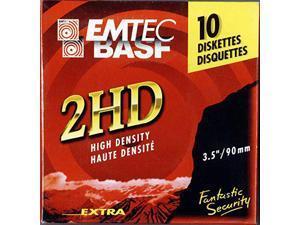 """Emtec 3.5"""" 2HD Floppy Diskette UNFORMATTED 10-pack"""