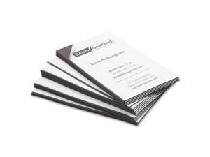 """66200 Baumgartens Business Card - 3.50"""" x 2"""" - 0% Recycled Content - 25 / Pack - Black"""