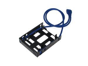 """SEDNA - Floppy bay Mounting Adapter for 2 x 2.5"""" HDD / SSD with 2 x USB 3.0 Port"""