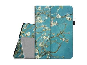 Fintie iPad Air 2 Case - Premium Vegan Leather Slim Fit Folio Case Smart Stand Protective Cover Auto Sleep/Wake Feature for Apple iPad Air 2, Blossom