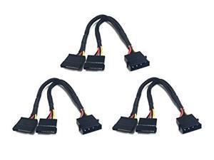 Apevia CVT3425 4-Pin Molex to 2 SATA Cable (3-pk)