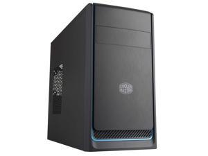 Cooler Master MasterBox E300L with Brushed Front Panel, Blue Colored Trim, and a Side Panel with Air Vent Case