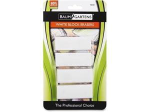 Baumgartens White Block Erasers 4-pk (74121)
