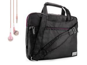 Nine-O Premium Nylon Carrying Shoulder Bag Case For Kocaso Tablets (M9200, M766, K-mini, M961, M860…. + Handsfree Earphones