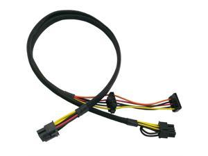 Motherboard 10 Pin to PCI-E 8 Pin(6+2) SATA IDE Molex Power Adapter Cable Compatible with HP DL380 G6 G7 Server 25-in(63.5cm)