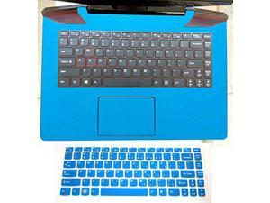 2in1 Wrist Palmrest Skin Sticker With Touchpad Cover+ Keyboard Protector for Lenovo Ideapad Y700 14'' (shimmery light blue palmrest cover+semi-blue keyboard skin)