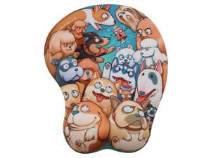 EXCO - 3D Cartoon Ergonomic Mouse Pad with Wrist Rest and Gel Filling - Pop Dog ?