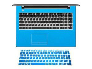 2in1 Wrist Palmrest Skin Sticker With Touchpad Cover+ Keyboard Protector for 15.6'' Lenovo ideapad 300 15'' (shimmery light blue palmrest cover+blue keyboard skin)