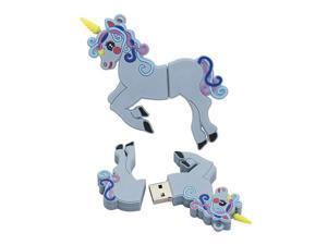 128GB Unicorn Model USB Flash Drives Pen Drive Memory Stick PenDrives USB Flash Disk U Disk USB Drive Thumb Drive USB Stick - Blue