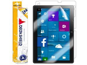 DeltaShield Full Body Skin for Lenovo Ideapad Miix 300 (10 inch)(2-Pack)(Screen Protector Included) Front and Back Protector BodyArmor Non-Bubble Military-Grade Clear HD Film