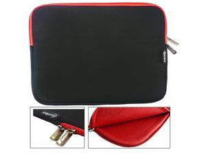 Emartbuy ( 10 - 11 Inch ) Black/Red Water Resistant Neoprene Sleeve Soft Zip Cover With Red Interior For Lenovo Ideapad Miix 300 10.1 Inch Tablet