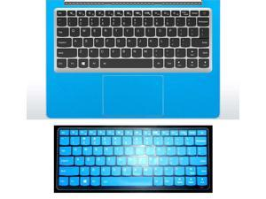 2in1 Wrist Palmrest Skin Sticker With Touchpad Cover+ Keyboard Protector for Lenovo Ideapad 710s 13'' (shimmery light blue palmrest cover+semi-blue keyboard skin)