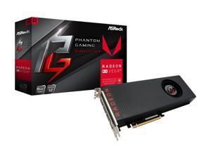 ASRock Phantom Gaming X Radeon RX Vega 56 DirectX 12 RX VEGA 56 8G 8GB 2048-Bit HBM2 PCI Express 3.0 x16 HDCP Ready Video Card