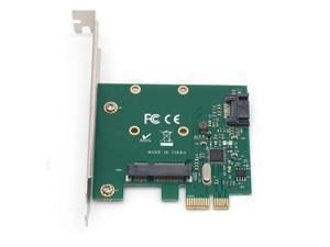 PCI-E PCIe to mSATA SSD + SATA 3.0 Combo Extender Adapter PCI-E to SATAIII Card