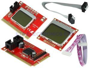 Dual LCD Mini PCI-E PCI LPC Diagnostic Analyzer Post Test Debug Cards Debug Card