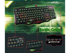 HOT SUNT GK93 Ergonomic Backlight Usb Wired PC Gaming Keyboard with Green LED