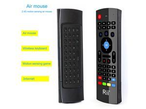 Rii MX3-M Air Mouse Mini Keyboard Infrared Remote Control for PC Smart TV