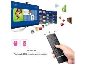 Rii MX3-Pro Backlit Air Mouse Mini Keyboard IR Remote Controls for Smart TV PC
