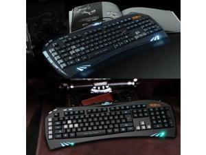 SUNT GK35 Limited Edition Backlit Ergonomic Usb PC Gaming Keyboard w/ BLUE LED