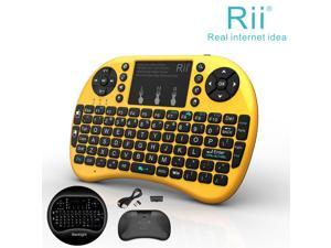 Nice Gift Rii i8+Golden Wireles Keyboard with Backlit Touchpad for Smart TV XBOX
