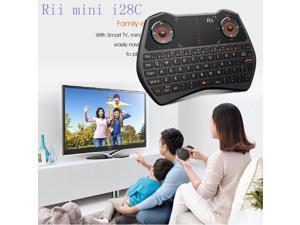 Rii i28C mini Wireless Keyboard Backlit Touchpad for Smart TV HTPC PC IPTV XBOX