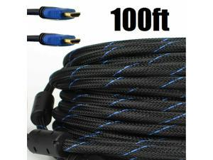 100ft 100FEET 100feet Premium HDMI Cable 100ft HDMI Male to Male M/M Cable Cord Bluray For 3D DVD HDTV 1080P LCD