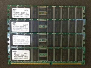 4GB 4x1GB SAMSUNG M312L2920BTS-CB0Q0 DDR PC2100R-25331-Z SERVER MEMORY