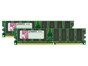 Kingston ValueRAM 2 GB Kit (2x1 GB Modules) 400MHz DDR CL3 DIMM Desktop Memory KVR400X64C3AK2/2G