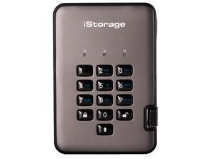 iStorage diskAshur PRO2 256-bit 500GB FIPS 140-2 Level 3 Certified Hardware Encrypted Portable Hard Drive USB 3.1 AES-XTS 256-bit – Classified - Graphite (IS-DAP2-256-500-C-X)