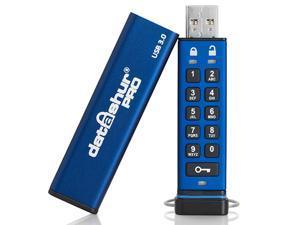 iStorage datAshur Pro 16GB Hardware Encrypted USB 3.0 Flash Drive AES-XTS 256-bit - FIPS 140-2 level 3 (IS-FL-DA3-256-16)